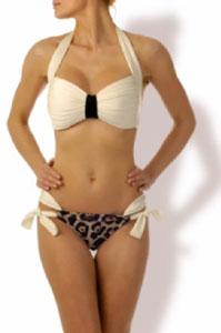 Elegance Tats Push up Bandeau Bikini