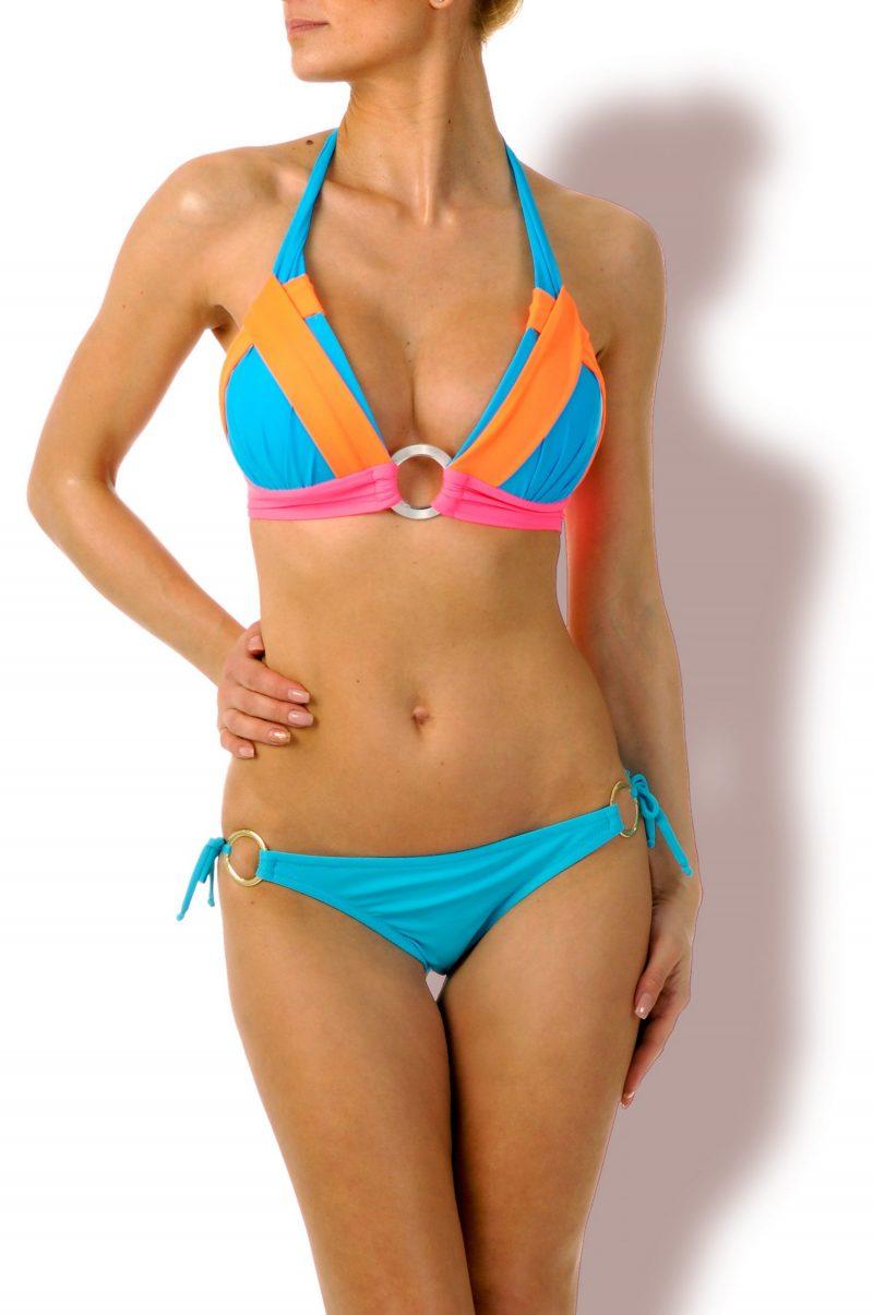 Hot Look-Triangel Bikini Neon Türkis Mix
