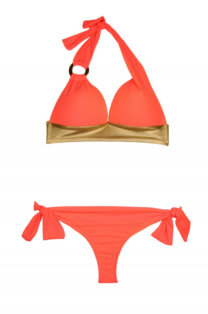 Happy Holiday Push up Triangel Bikini Coralle